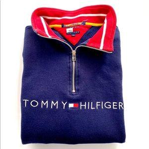 Tommy Hilfiger half zip pullover sweater